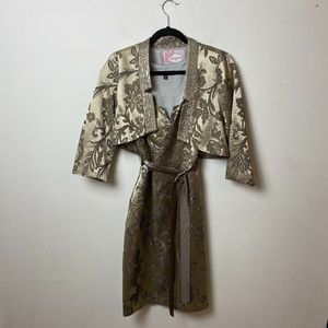 Vintage Tapestry dress with jacket
